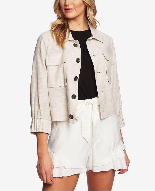 CeCe Cropped 3/4-Sleeve Jacket