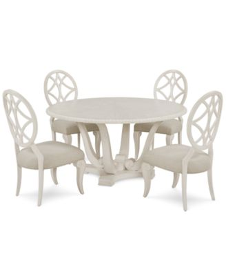 Jasper County Dogwood Round Dining Furniture, 5-Pc. Set (Table & 4 Side Chairs)