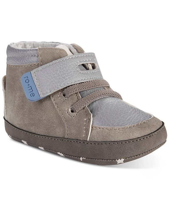 Robeez ro + me by Baby Boys Bear High-Top Shoes