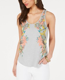 Lucky Brand Cotton Floral-Graphic Tank Top