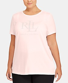 Lauren Ralph Lauren Plus Size Slim-Fit Jersey T-Shirt