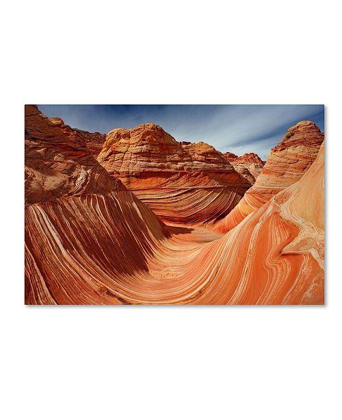 "Trademark Global Mike Jones Photo 'The Wave Classic View' Canvas Art - 24"" x 16"" x 2"""