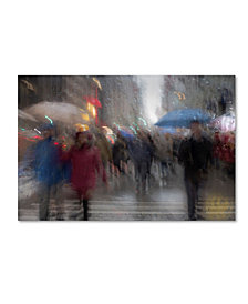 "Moises Levy 'Umbrellas 5' Canvas Art - 19"" x 12"" x 2"""