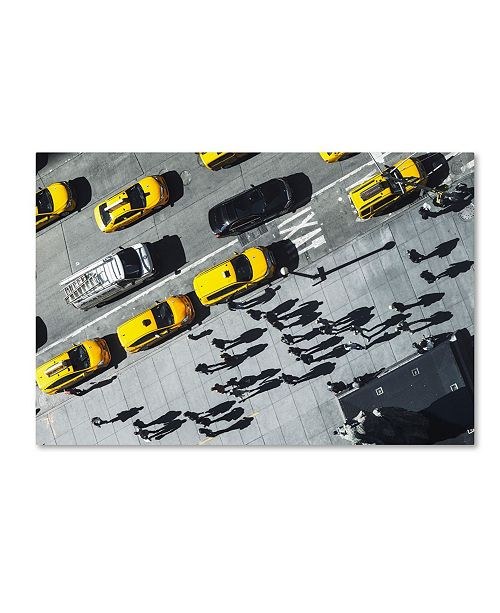 "Trademark Global Moises Levy 'Shadows In Ny' Canvas Art - 19"" x 12"" x 2"""