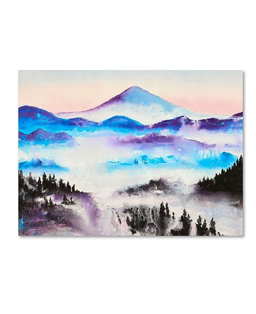 "Trademark Global Michelle Faber 'Mountain Mist Landscape' Canvas Art - 32"" x 24"" x 2"""