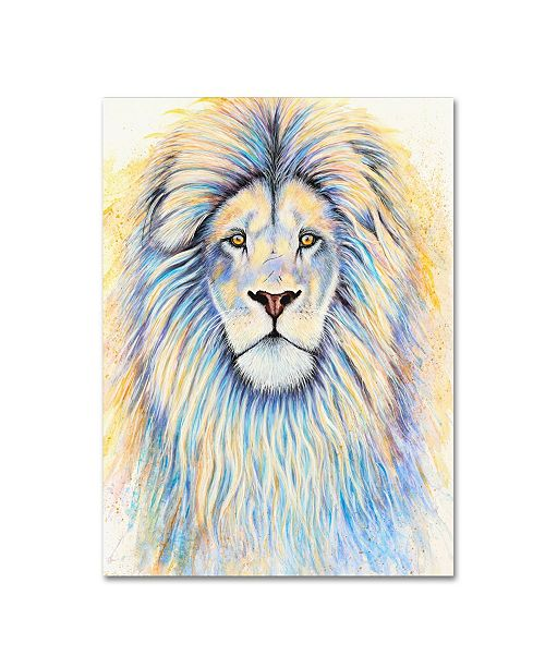 "Trademark Global Michelle Faber 'Leo The Lion' Canvas Art - 19"" x 14"" x 2"""