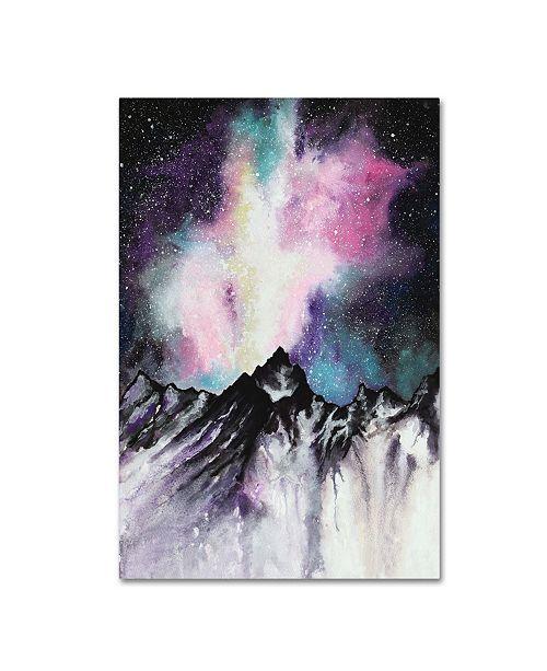 "Trademark Global Michelle Faber 'Starruption Galaxy Landscape' Canvas Art - 19"" x 12"" x 2"""