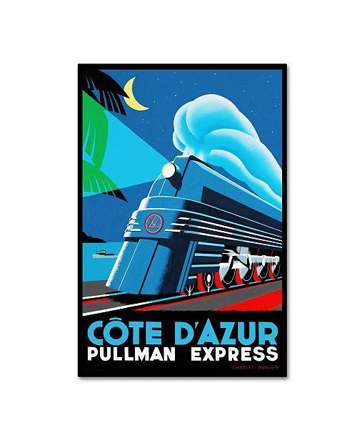 "Trademark Global Vintage Lavoie 'Travel Rail 14' Canvas Art - 47"" x 30"" x 2"""