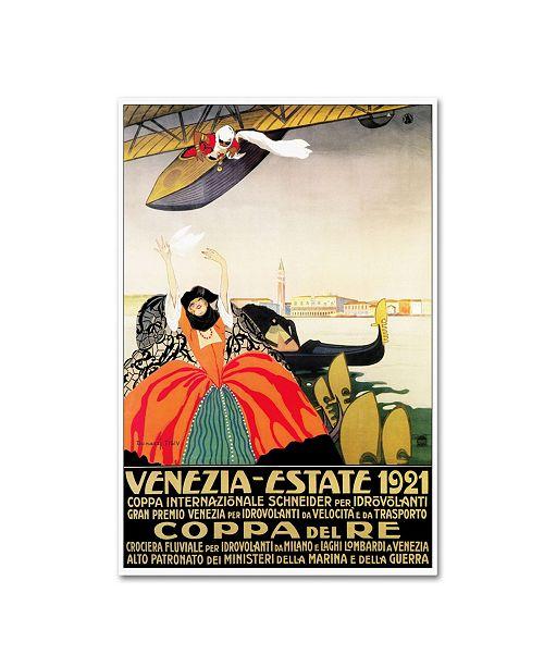"Trademark Global Vintage Lavoie 'Travel 56' Canvas Art - 47"" x 30"" x 2"""