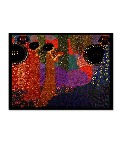 "Trademark Global Vintage Lavoie 'Deco 24' Canvas Art - 47"" x 35"" x 2"""