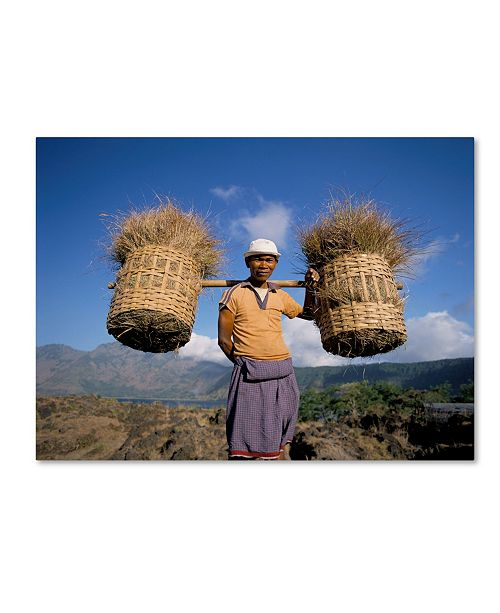 "Trademark Global Robert Harding Picture Library 'Character With Baskets' Canvas Art - 32"" x 24"" x 2"""