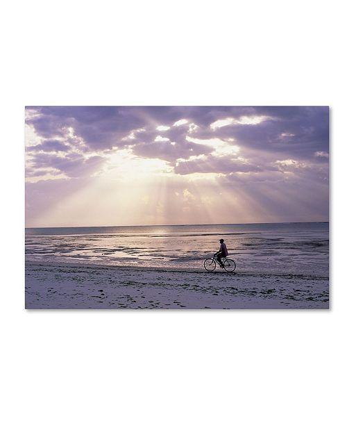 "Trademark Global Robert Harding Picture Library 'Bike Rider' Canvas Art - 24"" x 16"" x 2"""