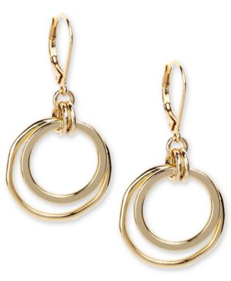 Image of Anne Klein Earrings, Gold-Tone Orbital Fish Hook Earrings