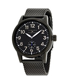 Joseph Abboud Men's Analog Black Stainless Steel Bracelet Watch 28mm