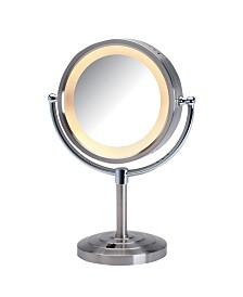 "The Jerdon HL745NC 8.5"" Tabletop Two-Sided Halo Lighted Vanity Mirror"