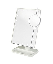 "The JS811W 8' x 11"" Portable LED Lighted Makeup Mirror"