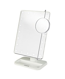 "The Jerdon JS811W 8' x 11"" Portable LED Lighted Makeup Mirror"