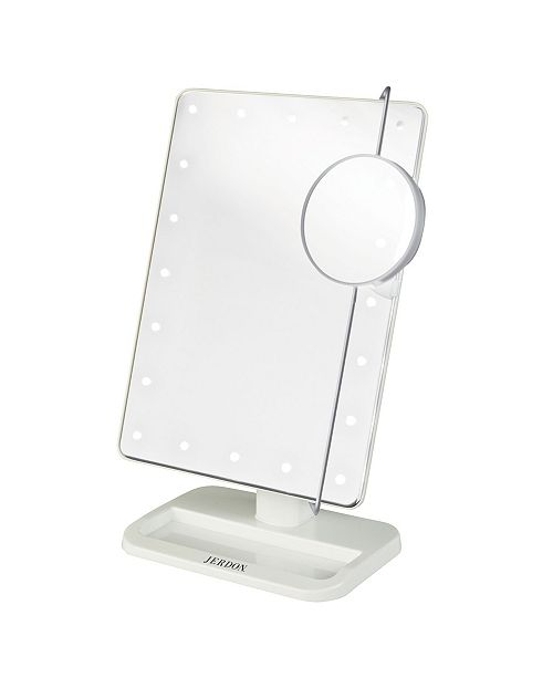 "Jerdon The JS811W 8' x 11"" Portable LED Lighted Makeup Mirror"