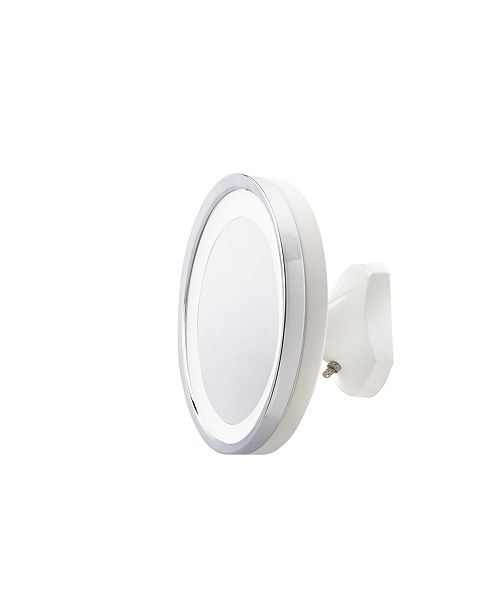 """Jerdon The HL95WL Jerdon 9.75"""" 5X LED Lighted Direct Wire Wall Mount Mirror"""