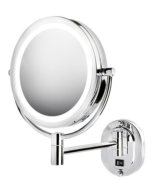 """Jerdon The HL165CLD 8"""" 5X-1X LED Lighted Direct Wire Wall Mount Mirror"""