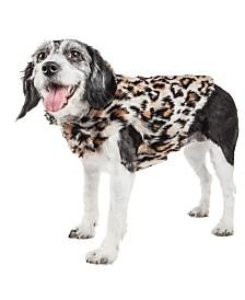 Pet Life Luxe 'Lab-Pard' Dazzling Leopard Patterned Faux Fur Dog Coat Jacket