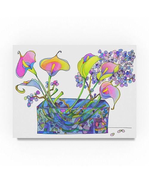 "Trademark Global Lisa Katharina 'Calla Lilly And Hydrangea Hallucination' Canvas Art - 19"" x 14"" x 2"""