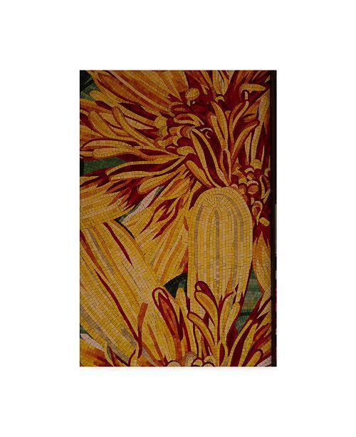 "Trademark Global Moises Levy 'Art Flower Yellow' Canvas Art - 47"" x 30"" x 2"""