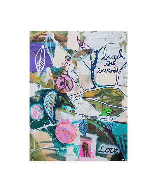 """Trademark Global Zwart 'Branch Out' Canvas Art - 24"""" x 18"""" x 2"""""""
