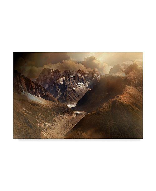 """Trademark Global Nicolas Schumacher 'Mont Blanc Massiv' Canvas Art - 47"""" x 2"""" x 30"""""""