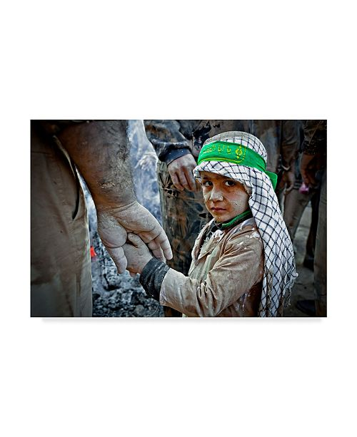 "Trademark Global Mohammadreza Momeni 'Father And Son Head Dress' Canvas Art - 19"" x 2"" x 12"""