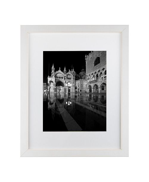 "Trademark Global Moises Levy 'Aqua Alta' Matted Framed Art - 20"" x 16"" x 0.5"""