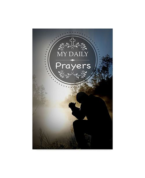"Trademark Global Jean Plout 'My Daily Prayers' Canvas Art - 24"" x 16"" x 2"""