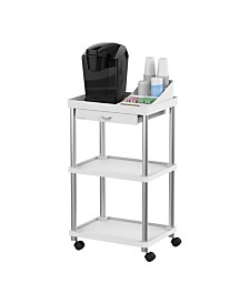 Mind Reader All Purpose Rolling Cart, Printer Cart, Utility Cart, Kitchen Cart, Coffee Cart, Microwave Cart, Bathroom Cart, 3 Tier with Free Condiment Organizer