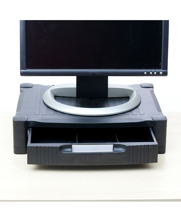 Mind Reader Monitor Stand Riser with Drawer Storage for Computer, Laptop, Desk, iMac, Dell, HP, Printer