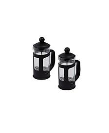Single Serve French Press Coffee & Tea Maker, 2 Pack