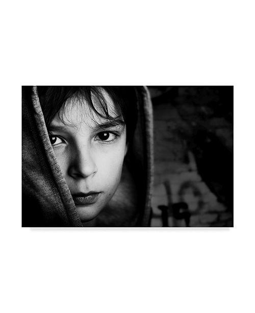 "Trademark Global Mirjam Delrue 'Street Boy' Canvas Art - 32"" x 2"" x 22"""