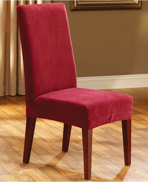 Sure Fit Stretch Pique Short Dining Room Chair Slipcover ... e3571d322