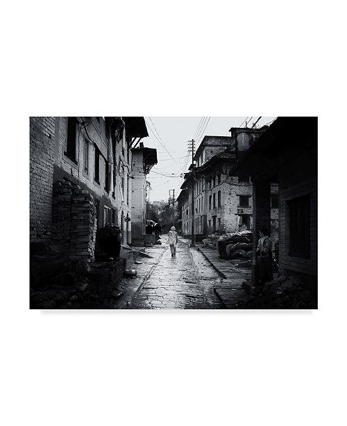 """Trademark Global Rui Caria 'Down The Path' Canvas Art - 19"""" x 2"""" x 12"""""""