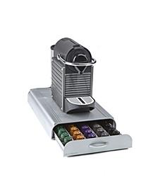 50 Capacity Nespresso Capsule, 24 Capacity Vertuoline Coffee Pod Storage Drawer Organizer