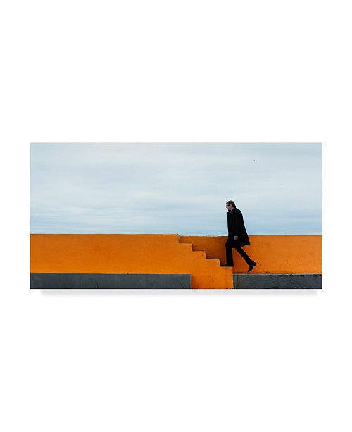 "Trademark Global Mikhail Potapov 'The First Step' Canvas Art - 19"" x 10"" x 2"""