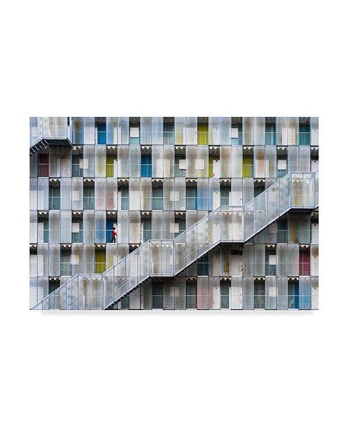 "Trademark Global Tetsuya Hashimoto 'Colorful Apartment' Canvas Art - 47"" x 2"" x 30"""