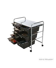 Mind Reader Storage Drawer Rolling Utility Cart, 9 Drawer Organizer
