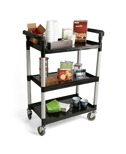 Mind Reader 3 Tier Mobile Rolling ALL Purpose Coffee Cart with Handles