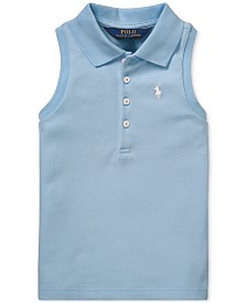 Polo Ralph Lauren Big Girls Sleeveless Mesh Polo Shirt