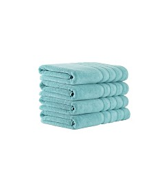 Classic Turkish Towels Antalya 4 Piece Luxury Turkish Cotton Bath Towel Set