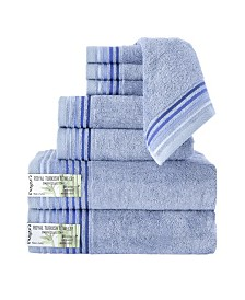 Classic Turkish Towels Dimora 8 Piece Luxury Bamboo Series Towel Set