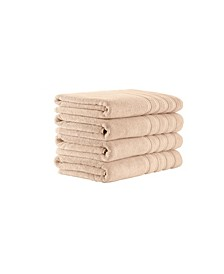 Classic Turkish Towels Antalya 4 Piece Luxury Turkish Cotton Towel Set Collection