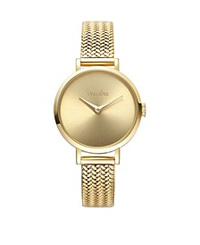 Hudson Weave Gold Mesh Watch