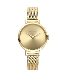 RumbaTime Hudson Weave Gold Mesh Watch
