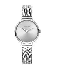 Hudson Weave Silver Mesh Watch